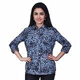 Orange Plum Women'S Printed Shirt