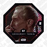Rewe STAR WARS Cosmic Shells Normal 07 Glitzer Grossmoff Tarkin + WIZUALS STICKER