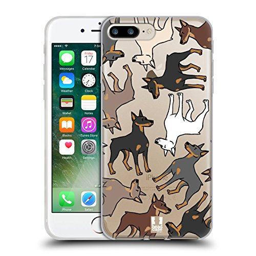 Head Case Designs Shih Tzu Race De Chien Modèle 2 Étui Coque en Gel molle pour Apple iPhone 5 / 5s / SE Doberman