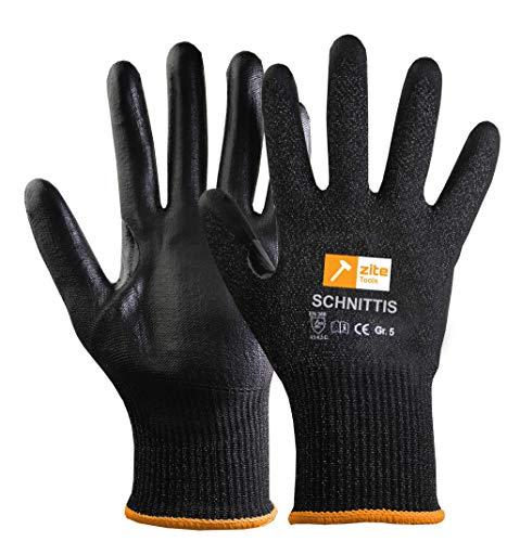 Zite Tools Schnittschutz-Handschuhe Kinder - Schutzhandschuhe zum Schnitzen und mehr - EN388 Level 5/5 - Diverse Größen (Größe 5)