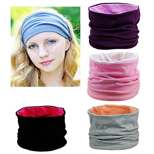HBF 4 stk Stirnband Damen mehrfarbige Stirnbänder Kopfband Haarspange Haarband Headband Sport Elastisch Turban Haarschmuck