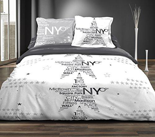 Douceur de noches nueva york Star p4p Juego de sábana algodón, 300x...