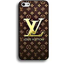 Custom Floral Background Louis and Vuitton Logo Iphone 6 Plus/6S Plus Case,Louis and Vuitton Logo Phone Case Black Hard Plastic Case Cover For Iphone 6 Plus/6S Plus