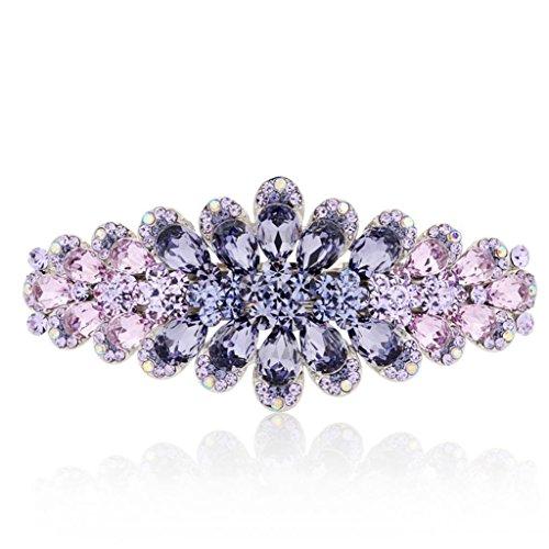 DELLT- Diamante Primavera clip della forcella della carta coreana Top Regalo di compleanno Copricapo Cartella ( colore : Viola )