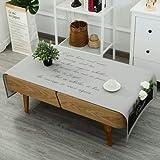 Ropa de algodón manteles Mantel de la mesa de café nórdica Mesa de centro rectangular de salón de café mat Mantel Cubierta gabinete de tv-A 60x170cm(24x67inch)