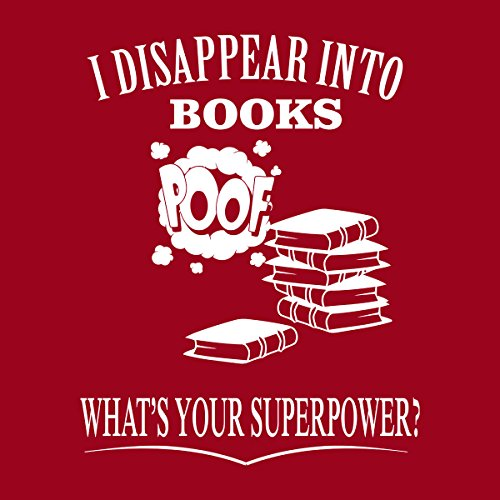 I Disappear Into Books Women's Hooded Sweatshirt Cherry Red