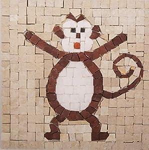 MOSAIKIT - Mosaico de Monkey Gigante (17 x 17 cm)