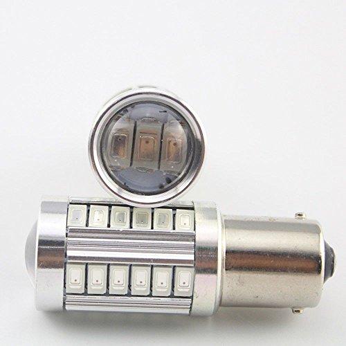 Für Glühbirnen Chevy Silverado (ronben 2x Bernstein Universal 115611411003BA15S 573033SMD LED Backup Reverse Licht DC12V, Super Bright)