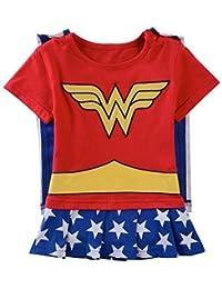 Vêtement Bébé Fille Super Hero Marvel | Body Pyjama enfant | Déguisement Wonder Woman | Costume original et rigolo |