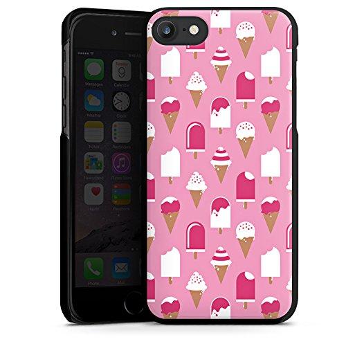 Apple iPhone X Silikon Hülle Case Schutzhülle Eis Sommer Eiscreme Hard Case schwarz