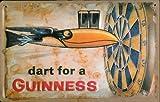 Blechschild Nostalgieschild Guinness Dart for a Guinness Bier retro Schild Werbeschild