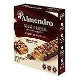 El Almendro Barritas de Almendra y Chocolate Negro 70% - 4x25gr - Sin Gluten - Sin Aceite de Palma - Alto Contenido en Fibra