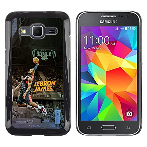 GRECELL CITY GIFT PHONE CASE /// Cellphone Schutzhülle Harte Hülle Etui Deckel HandyHülle / Hard Case for Samsung Galaxy Core Prime /// Lebron James Basketball Lebron James - James Lebron Halloween