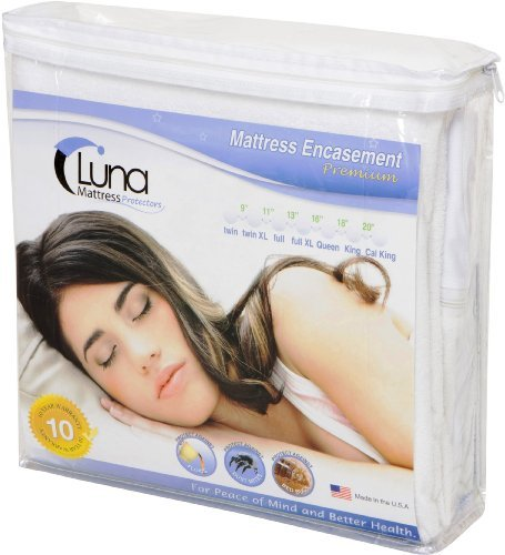 Luna Premium Hypoallergen Reißverschluss Bett Bug Proof Matratze umgreifung 22,9cm Höhe King Size (Protector Bug King-size-bett)