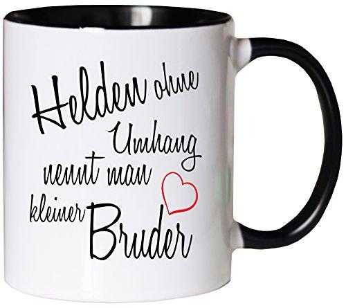 Mister Merchandise Kaffeebecher Tasse Helden ohne Umhang nennt man kleiner Bruder Schwanger baby...