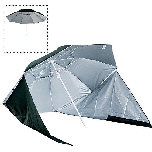 Outsunny Sombrilla de Playa con Paravientos tipo Tienda-Parasol Camping 2 Funciones para...