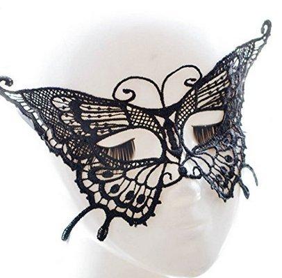 stüm-Prinzessin Maske Halloween Masquerade Maske Party Perücke Cosplay mit Maske C (Masquerade Halloween Kostüm)