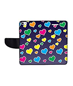 KolorEdge Printed Flip Cover For Apple IPhone 5 - Multicolor (43KeMLogo10465IPhone5)
