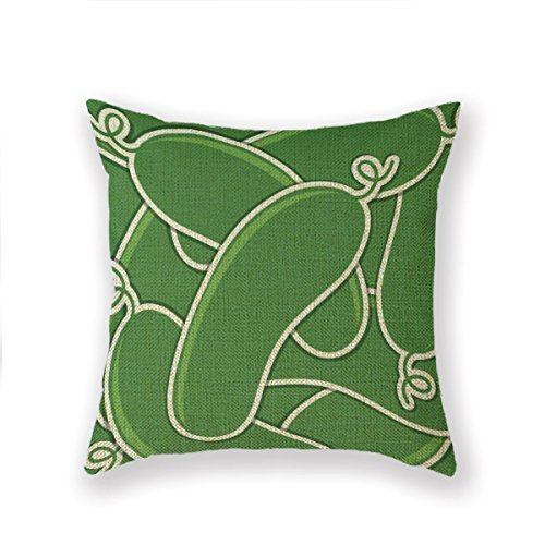 BHWYK O23L Kimchi Relish Pickle Chips Throw Pillow 18 X 18 Square Pillowcase -