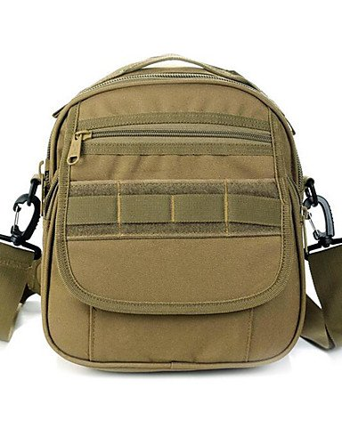HWB/ 7 L Kamerataschen / Umhängetasche Camping & Wandern Draußen Multifunktions Schwarz / Braun Nylon Other Black