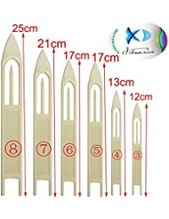 jshanmei® Lot de 6/Blanc réparation de pêche filet aiguille outil Ligne de pêche volants en plastique Accessoire de pêche Taille: 3#, 4#, 5#, 6#, 7#, 8#