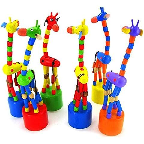 Fortan Kids Toy Intelligenza Danza stand colorato a dondolo giraffa giocattolo di legno
