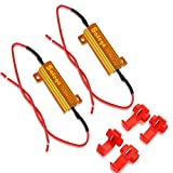 Safego 2 x 50W 6ohm Lastwiderstand Widerstand for LED SMD Blinker Fehlercode fix