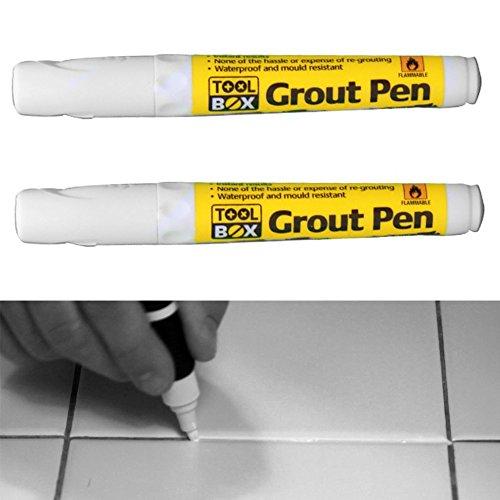 Fugenstift weiß–belebt & Wiederherstellungen müde Fugenmörtel 2Stück
