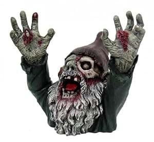 Zombie Zwerg Ich krieg dich Gartenzwerg Garten Figur