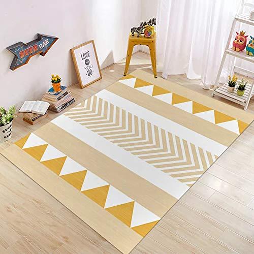 Insun Teppich Moderner Geometrische Formen Kurzflor Teppich Anti Rutsch Abwaschbarer Stil 2 120x160cm -