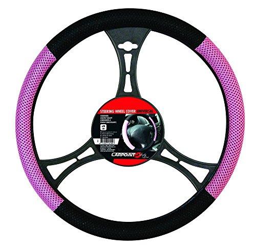 Carpoint 2510044 Couvre Volant Noir/Rose