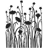 Darice Carpetas de Estampación, Plantilla Flores Silvestres Delicadas, Plastic, 10,8 x 14,6 cm