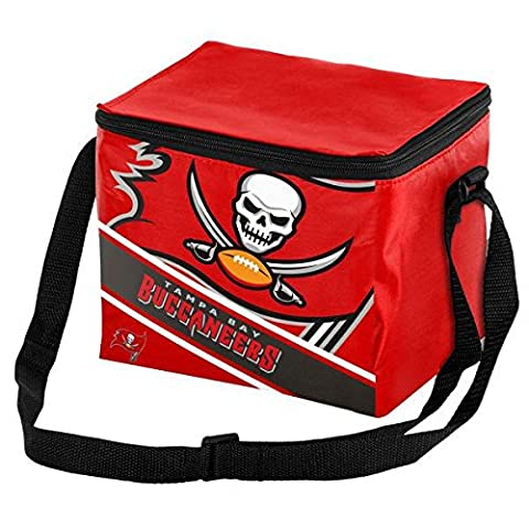 Tampa Bay Buccaneers Big Logo Stripe 12 Pack Cooler