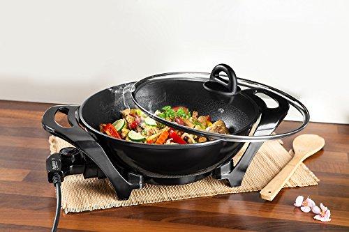 Multi Wok Pfanne Grillpfanne Grillwok PowerTec Kitchen ø32cm Alu 1500W Cooltouch