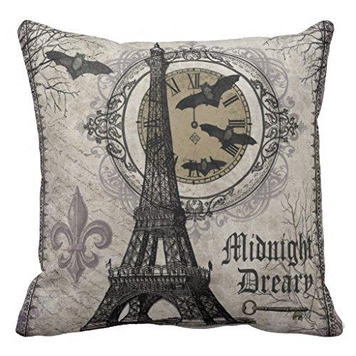 h Halloween Eiffelturm Überwurf Kissen Fall ()