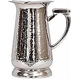 IndianArtVilla Hammered Stainless Steel Jug Pitcher, Storage & Serving, Home Restaurant, 1600 ML, Silver