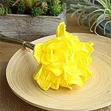 LYFWL Pu Kunstblumen Hauptdekoration Brautsträuße Kunstblumendekoration Künstliche Blumen 31Cm Gelb