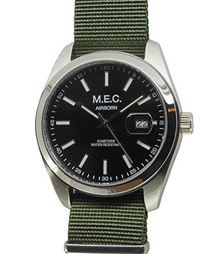 Uhr Vintage MEC Herren Quarz Edelstahl Militär Sport Scuba Idee Geschenk