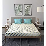 Trident Comfort Living 100% Cotton Double Bedsheet with 2 Pillow Covers Somerville Yellow