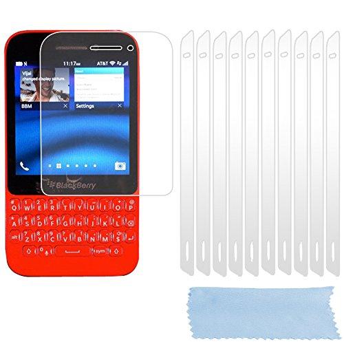Cadorabo DE-102187 Bildschirmschutzfolien für BlackBerry Q5 10 Stück hochtransparenter Schutzfolien gegen Staub, Schmutz & Kratzer High Klar