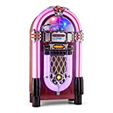 Auna Graceland XXL BT Jukebox Bluetooth Style années 50 (Port USB, Lecteur de Carte SD, AUX, Radio...