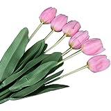 Fiori 6 Pc Simulazione Tulipano Artificiale Di Seta Piante Rosa