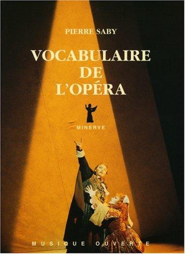 Vocabulaire de l'opéra