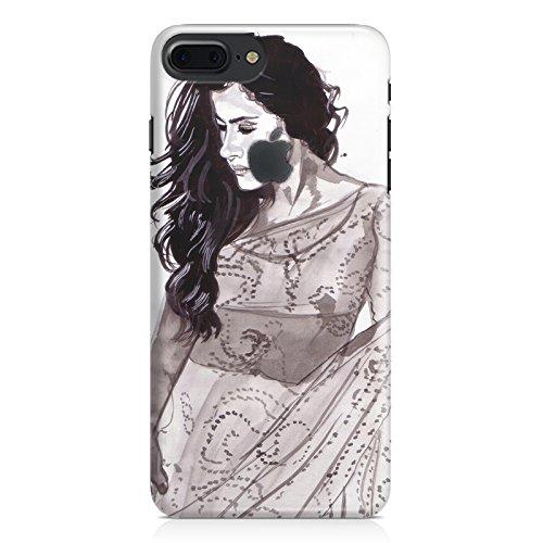 Kajol in saree sketch design Apple Iphone 7 plus with Apple cut...