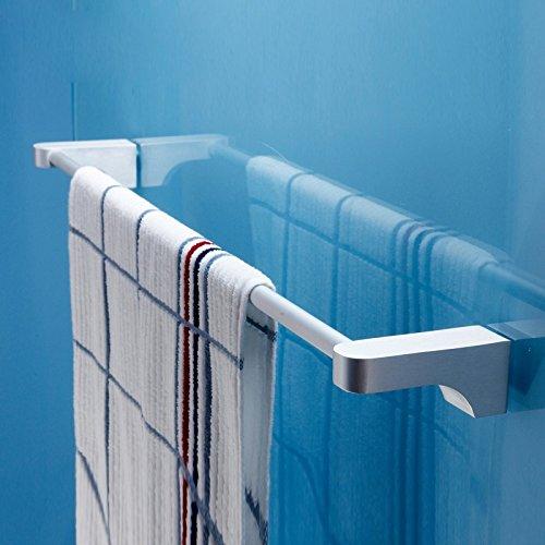 ZHGI Spazio di asciugamani in alluminio bar bagno hardware accessori bagno portasciugamani asciugamano bar tirante di