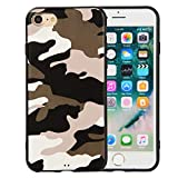 Etui Coque pour iphone 7, Apple iphone 8 Noir Silicone Coque - RosyHeart Soft TPU...