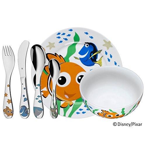 WMF Disney Cars 2 - Vajilla para niños 6 piezas, incluye plato, cuenco y cubertería (tenedor, cuchillo de mesa, cuchara… 6