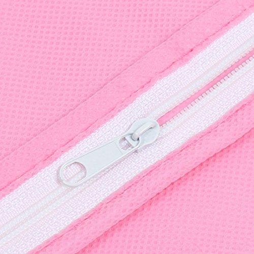 no tejido transpirable DealMux Traje Viaje a prueba de polvo de la ropa cubierta del bolso rosa