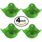 Vicloon Siliconeper Uovo in Camicia, Pentolino per Uova,Set di 4, Bollitore d'uovo / Pentolino per Uovo