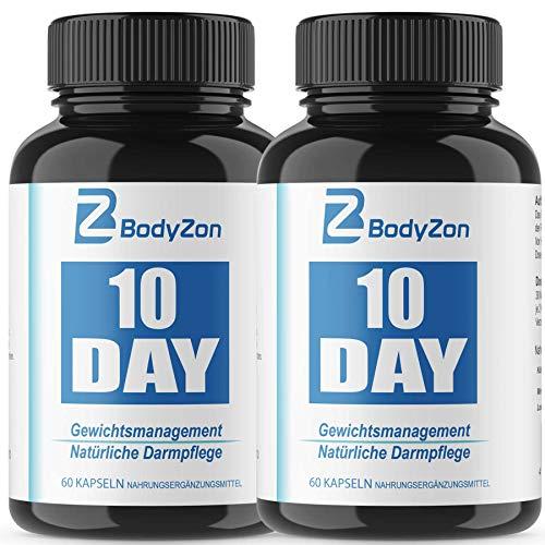 10 Day Gewichtsmanagement und Darmreinigung, Detox, Entgiftung, Diät, Abnehmen Darmgesundheit 2 x 60 Kapseln